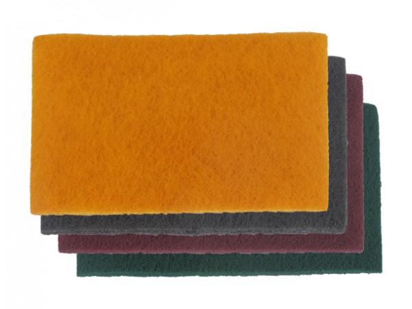 10 Tampons de fibre abrasif universel gris fin = p800