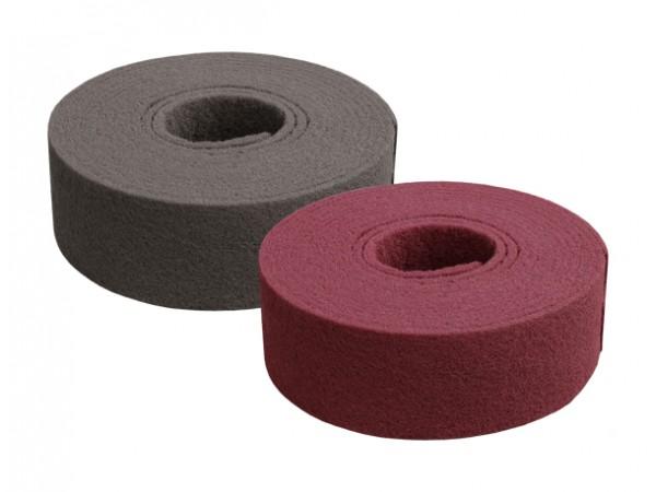 Rouleau de fibre abrasive 100mmx10m rouge moyen = P320