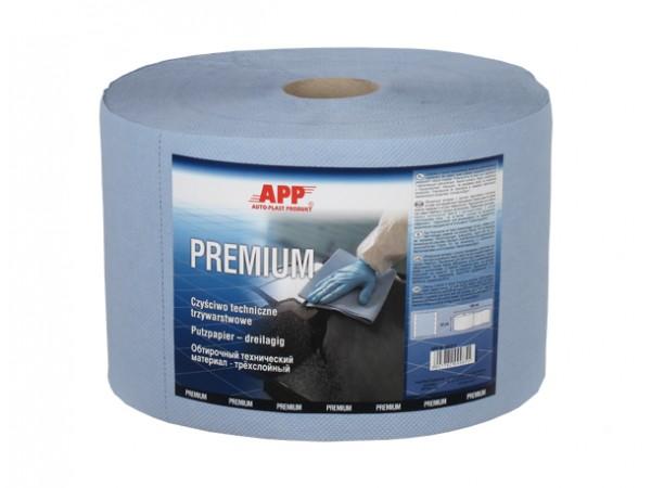 Chiffon de nettoyage industriel Premium triple epaisseur bleu 190m