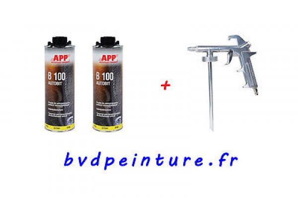 1  pistolet + 2 cartouches de protection bitumeuse antirouille pour chassis