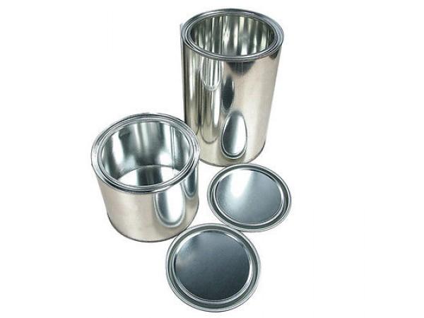 10 pots de 0,5L  fer avec couvercle contenant pour peinture auto
