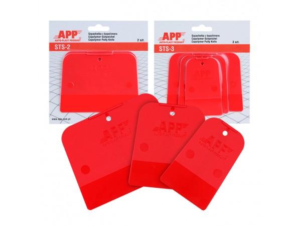 kit de 3 spatules en copolymère  PE / PP