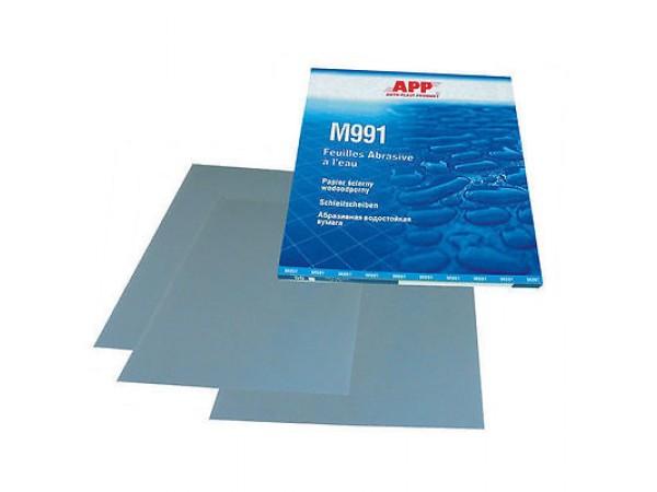 4 feuilles grain 60 de papier abrasif pour poncer à l'eau  format 230 x 280mm