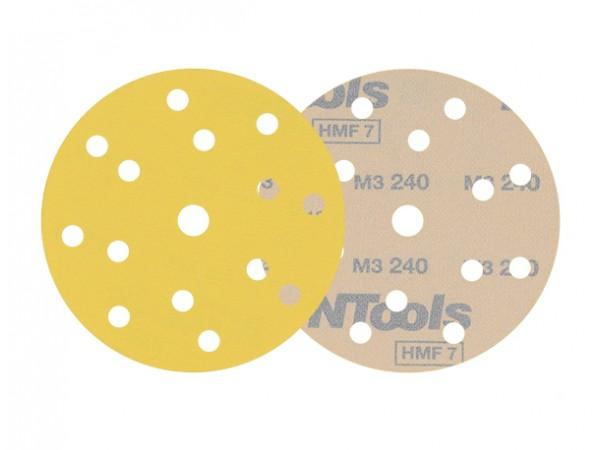 10 disques de ponçage  velcro grain 240 format 150mm 14+1 trous HMF Pro
