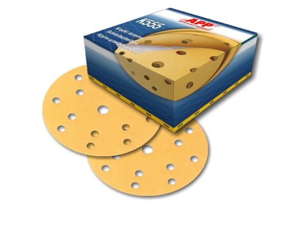 4 disques abrasif sur velcro grain 360 format 150mm 14+1 trous