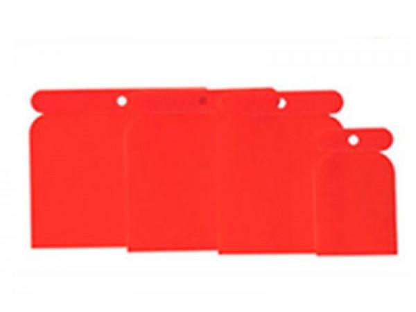 kit de 4 spatules pvc couteau à mastic enduits  réparation peinture auto APP