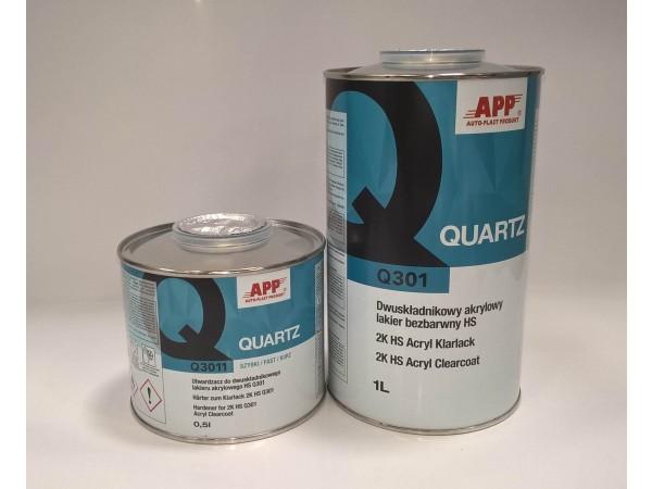 Vernis + durcisseur Quartz APP  1l+0,5l=  1,5L VOC-420g/l